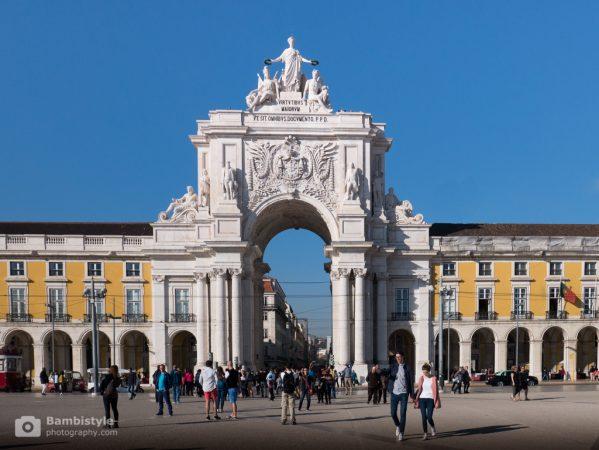 Lissabon Triumphbogen Rua Augusta