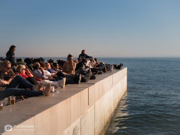 Lissabon Platz am Meer