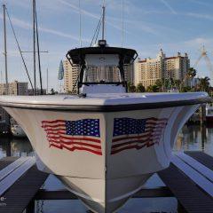 Florida Boot mit Flagge USA