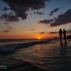 Florida Ft. Myers Beach Sonnenuntergang