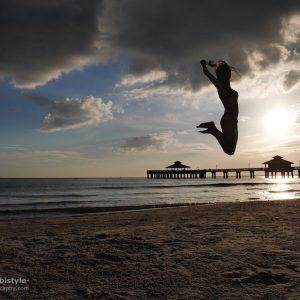 Florida Ft. Myers Beach Sprung ins Glück