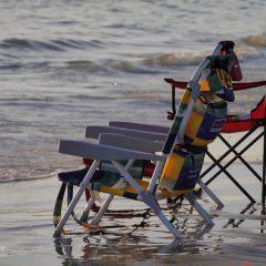 Florida Sonnenstühle am Meer