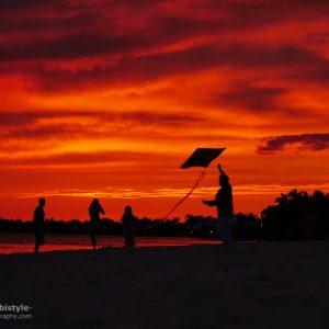 Florida Sonnenuntergang Cape Coral Beach