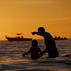 Florida Sonnenuntergang im Wasser